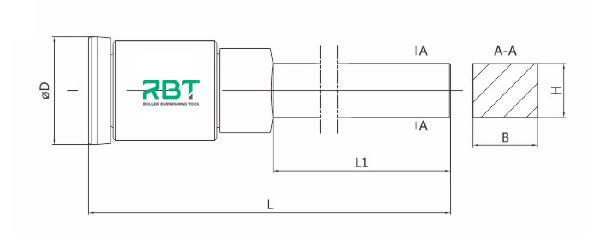 RBT Inner Diameter Carbide Single Roller Burnishing Tools, Inside Surface Single Roller Burnishing Tool