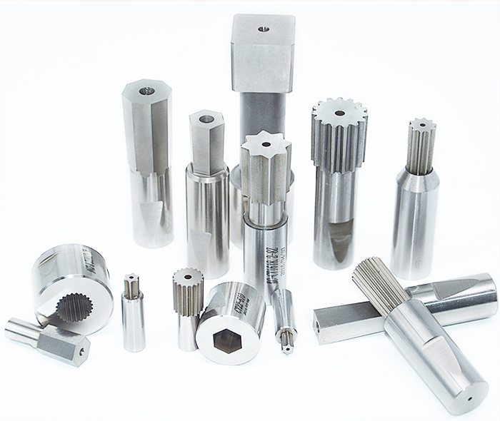 Rotary broaches: hex broach, square, rectangle, torx, serrations, spline, involute spline, missint teeth, double d, double hexagon, double square, keyways, rectangle and triangle
