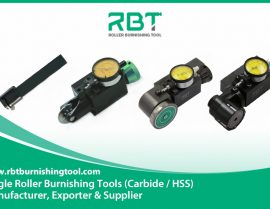 Characteristics and performance of single roller burnishing tool