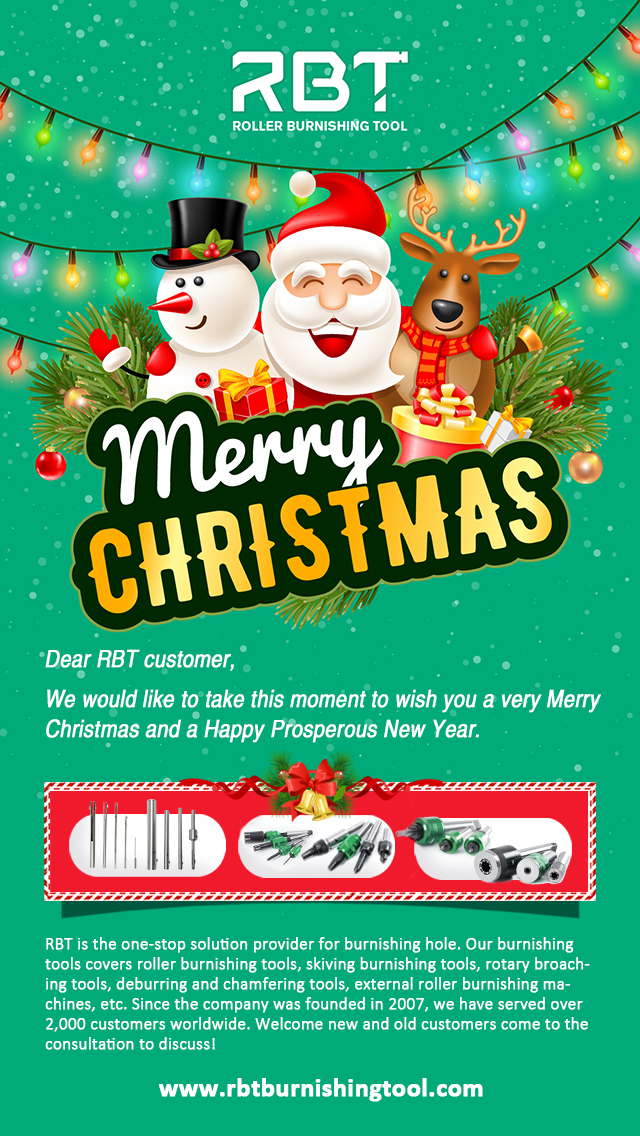 www.rbtburnishingtool.com Merry Christmas, roller burnishing tool, New Year, RBT, RBT customer
